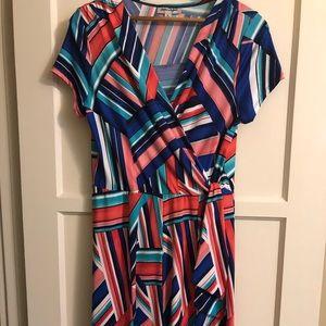 Dresses & Skirts - Colorful wrap dress